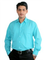 Prayas Creations Formal Shirts (Men's) - Prayas creations Men's Solid Formal Blue Shirt