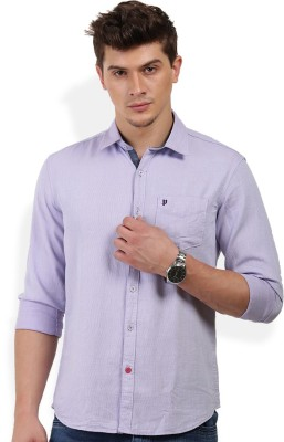 PAN VALLEY Men's Solid Casual Blue Shirt