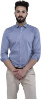 Mens Junction Formal Shirts (Men's) - Mens Junction Men's Self Design Formal Grey Shirt
