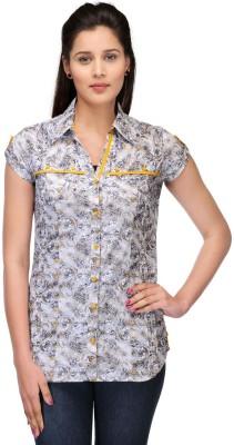 Fashion Cult Women's Geometric Print Casual Multicolor Shirt