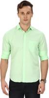 Sparky Formal Shirts (Men's) - Sparky Men's Solid Formal Green Shirt
