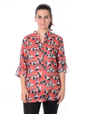 Urban Religion Women's Graphic Print Casual Multicolor Shirt