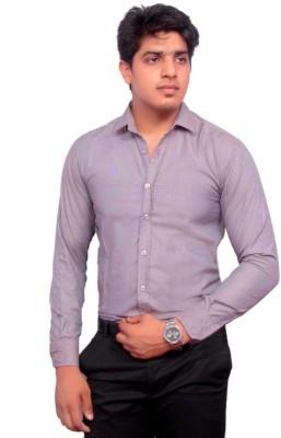 Rose Wear Men's Solid Formal Grey Shirt