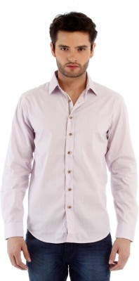Red Tape Men's Solid Casual Purple Shirt
