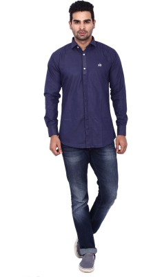 Coloroid Men's Solid Casual Blue, Dark Blue Shirt