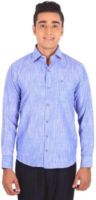 Henry Spark Men's Solid Formal Blue Shirt