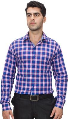 Hancock Men's Checkered Casual Blue, Red Shirt
