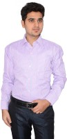 Indocity Formal Shirts (Men's) - Indocity Men's Checkered Formal Pink, White Shirt