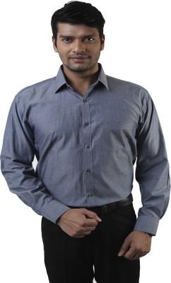 Lee Marc Men's Solid Formal Grey Shirt