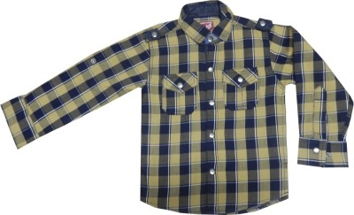 Kooka Kids Baby Boy's Checkered Formal Yellow Shirt