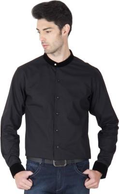 Roar and Growl Men,s Solid Formal Black Shirt