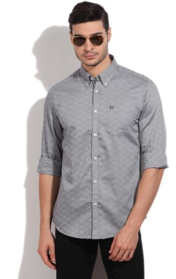 Arrow Sport Men's Self Design Formal Grey Shirt