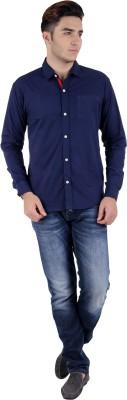 Hardys Men,s Solid Formal Blue Shirt