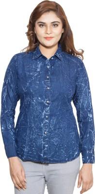 Swiss Culture Women,s Solid Casual Denim Blue Shirt