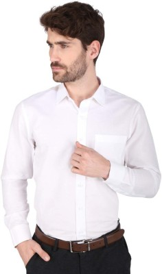Big Tree Men,s Solid Formal Linen White Shirt