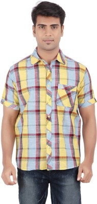 Anytime Men's Checkered Casual Multicolor Shirt
