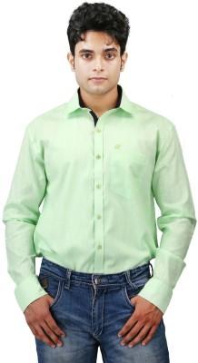 Relish Men's Solid Formal Light Green, Dark Blue Shirt