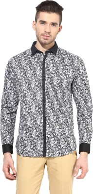 MONTEIL & MUNERO Men's Printed Casual Black Shirt