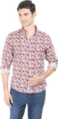 Flippd Men's Printed Casual Red Shirt