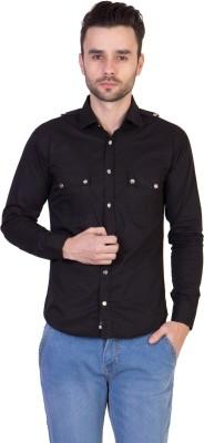 Threadikshion Men's Solid Casual Black Shirt