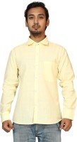 Raghuphool Formal Shirts (Men's) - Raghuphool Men's Solid Formal Yellow Shirt