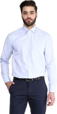 Urban Culture Men's Solid Formal Blue Shirt