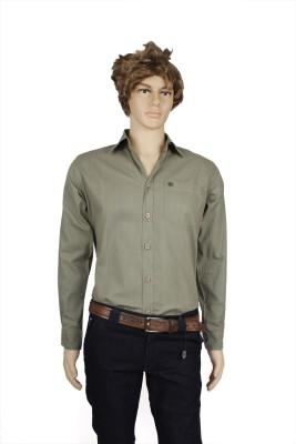 Eco-Solar Garments Men,s Solid Casual Light Green Shirt