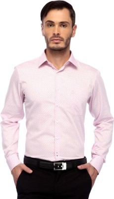 FRANK JEFFERSON Men's Printed Casual Pink Shirt