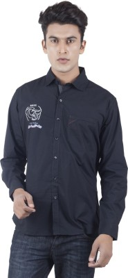 Eden Elliot Men's Solid Casual Black Shirt