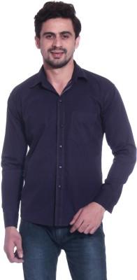 Calibro Men's Solid Casual Purple Shirt