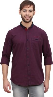 Volume Zero Men's Checkered Casual Red Shirt