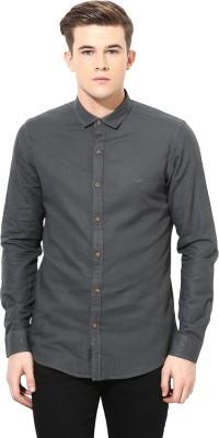 Velloche Men's Solid Casual, Festive Linen Dark Green Shirt