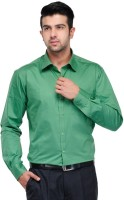 Makhkha Formal Shirts (Men's) - Makhkha Men's Solid Formal Green Shirt