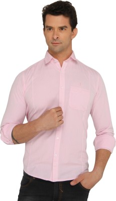 Donear NXG Men's Solid Casual Pink Shirt