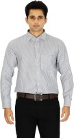 C N B Formal Shirts (Men's) - C n B Men's Striped Formal White Shirt