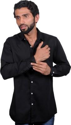 maclavaro Men's Solid Casual Black Shirt