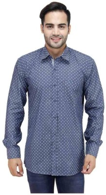 Trendy Bandey Men's Printed Casual Blue Shirt