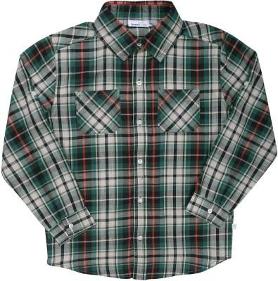 ShopperTree Boys Checkered Casual Multicolor Shirt