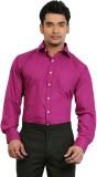 A & C Signature Men's Solid Casual Pink ...