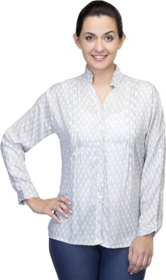 One Femme Women's Printed Formal, Party Multicolor Shirt