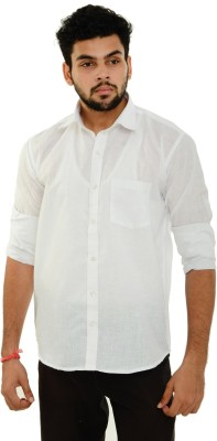 Dillidil Men's Solid Wedding, Casual, Party, Formal White Shirt