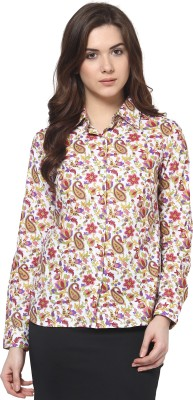 TheGudLook Women,s Floral Print Casual Multicolor Shirt