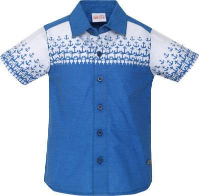 FS Mini Klub Boy's Woven Casual Blue Shirt