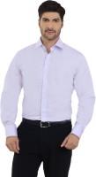 The Stiff Collar Formal Shirts (Men's) - The Stiff Collar Men's Solid Formal Purple Shirt