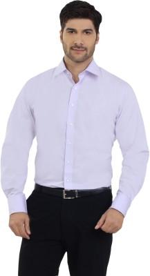 The Stiff Collar Men's Solid Formal Purple Shirt