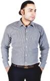 Spaky Men's Checkered Formal Black Shirt