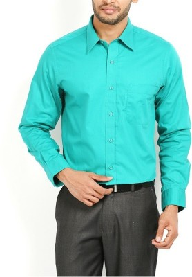FIRSTRACE Men's Solid Casual Light Green Shirt
