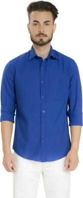 Club X Men's Solid Formal Blue Shirt