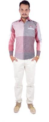 Shahanshah Enterprises Men's Printed Casual Maroon Shirt