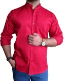 Solen Men's Solid Formal Red Shirt